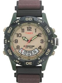 Relógio Timex Indiglo Expedition Alarme Cronógrafo T45181