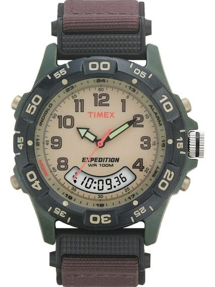 Relógio Timex Indiglo Expedition Alarme Cronógrafo T45181