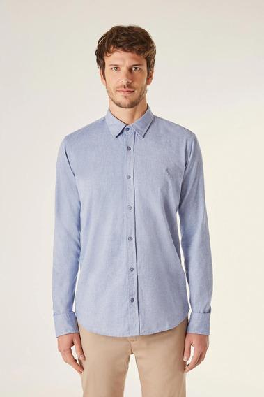 Camisa Ml Pf Oxford Color Reserva
