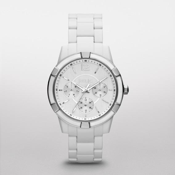 Reloj Dama Relic Payton Zr15699 Color Blanco