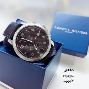 Relógio Tommy Hilfiger 1791364 Prata Aço Inox Couro Preto