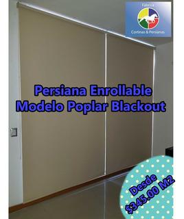 Persianas Enrollable Blackout Económicas Modelo Poplar