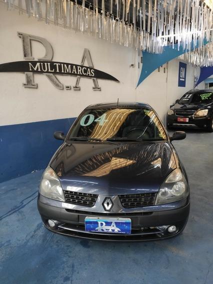 Renault Clio Sedan - 2004 - Financiamos Em Ate 48x