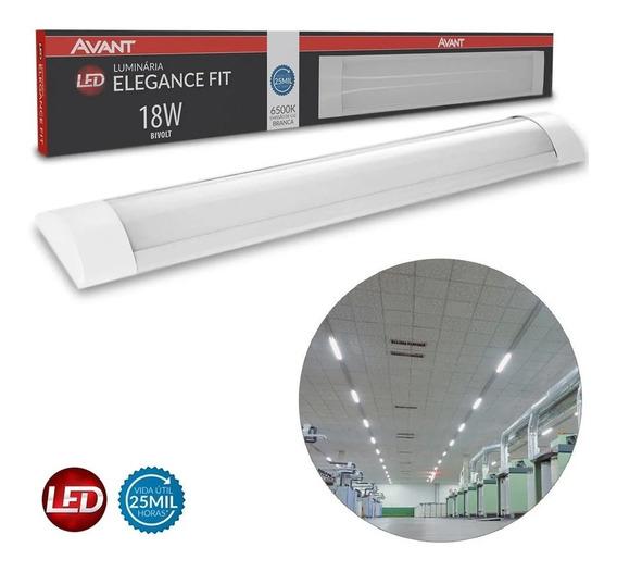 Lâmpada Luminária Led Slim Fit 60cm Branco Frio 6500k 18w