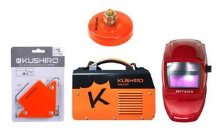 Soldadora Kushiro Inverter 140a Igbt Digital + Kit Soldador
