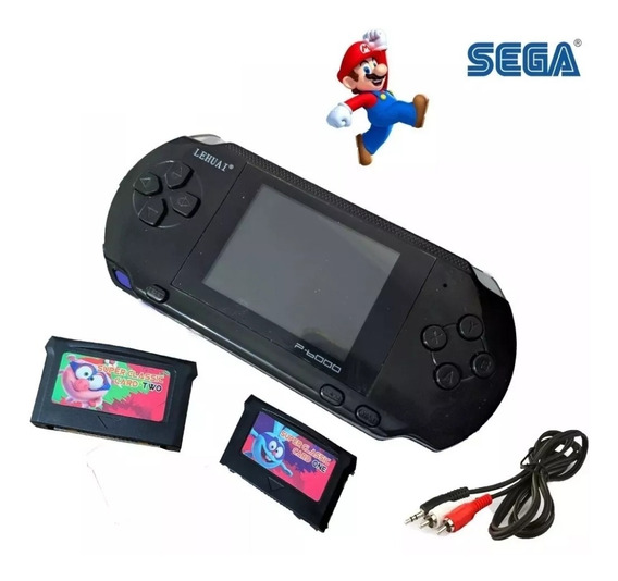 Video Game Portátil P6000 Slim, + Jogos + Cabo Tv 16 Bits