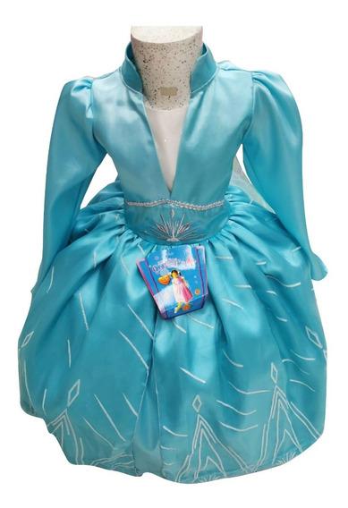 Vestido Disfraz Elsa Pelicula Nueva 2019 Talla 3-8 Modelo 2