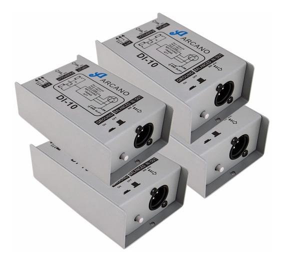 Kit 4 Direct Box Passivo Arcano Di-10 Custo X Beneficio