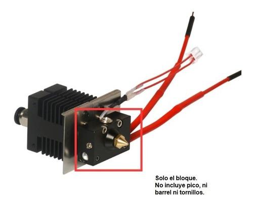 Imagen 1 de 2 de Bloque Aluminio Para Hotend Extrusor Hellbot Magna Dual