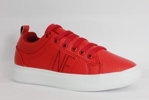 Imagen 1 de 4 de Tenis Casual Moda Urban Confort Para Mujer Polo Club Rojo