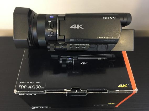 Filmadora Sony Fdr-ax100 4k, Com Vários Acessórios