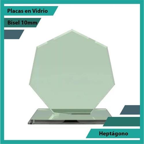Placas En Vidrio Forma  Heptágono