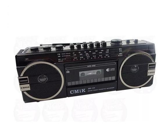 Radio Gravador Toca Fitas K7 Retro Anos 80 Novo Usb E Sd