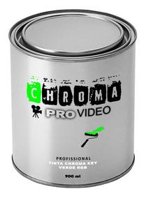 Tinta Verde Chromakey Lata1/4 900 Ml Rende 4 À 5 M²
