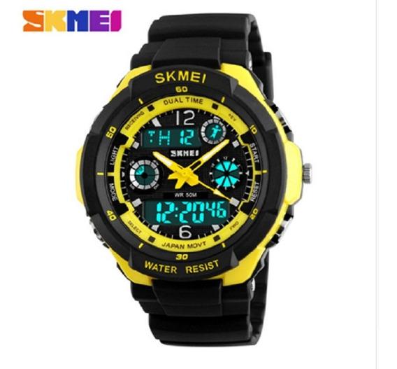 Relógio Masculino Resistente Shock Esportivo Skmei Barato