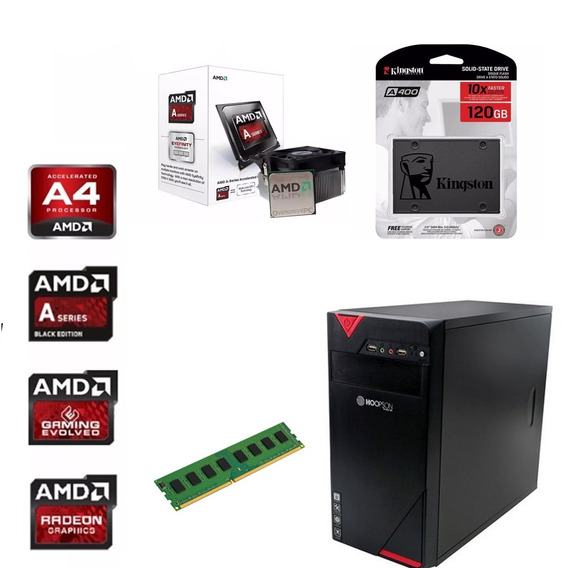 Cpu Gamer Barata Amd A4 6300 4gb Ssd120gb Radeon Pronta Entr