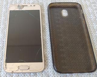 Celular Samsung Galaxy J5 Pro Tela Trincada Brinde Capinha