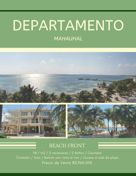 Departamento Frente A La Playa En Mahahual