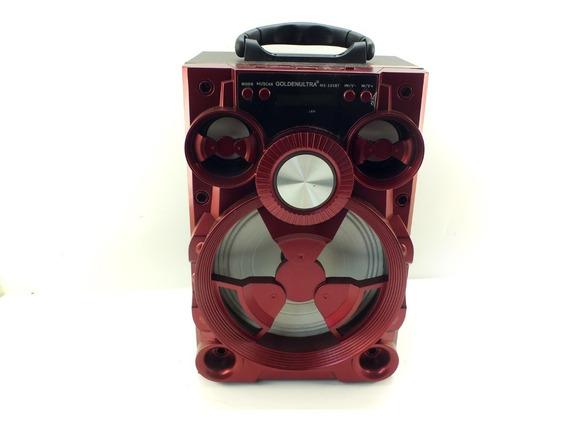 Caixa De Som Portátil Bluetooth Usb Radio Aux Led A10058
