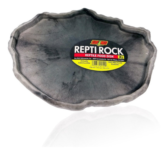 Zoomed Repti Rock Food Dish Grande Fd-50 Réptil Terrário