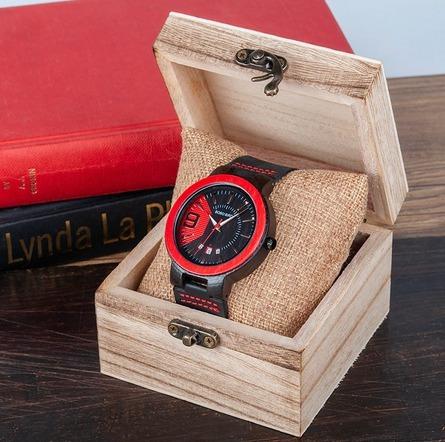 Relógio Unissex Bambu Madeira Anal. Bobo Bird Q20 - Promoção