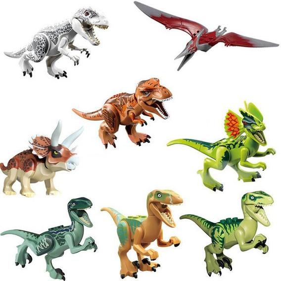 Kit 8 Dinossauros Compatível Lego Jurassic Park