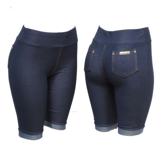 Kit C/6 Bermuda Feminina Cotton Jeans Frete Gratis