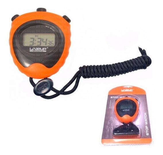 Cronômetro Digital Liveup Relógio Alarme Data Cordão