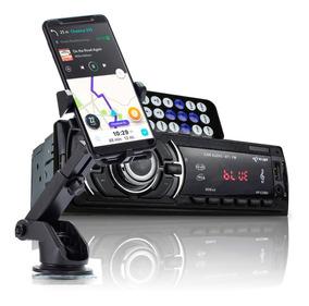 Kit Auto Radio Bluetooth Mp3 Carro Suporte Veicular Celular
