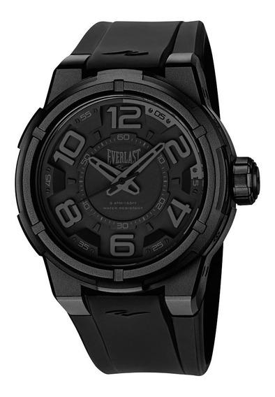 Relógio Pulso Everlast Masculino Esporte Silicone Preto E683
