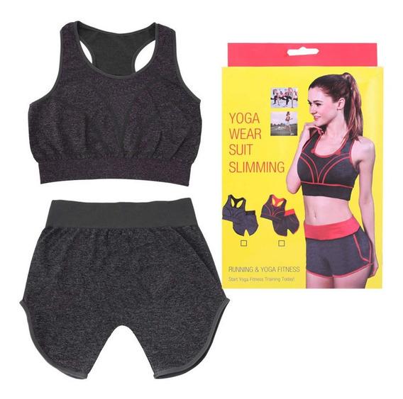 Conjunto Ropa Deporte Sport Yoga Fitness Short + Top
