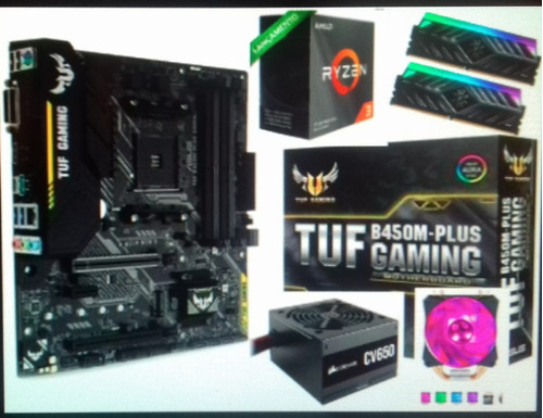 Pc Gamer Ryzen 3300x 16gb Ran 3200mhz Rx570 B450m Asus Tuf