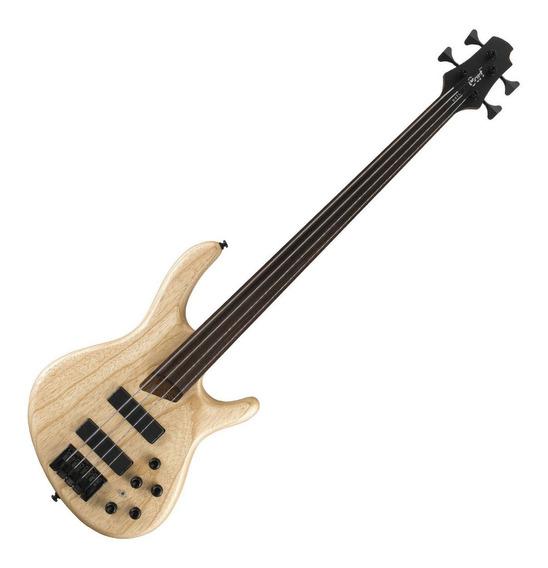 Cort B4fl Fretless Bajo 4 Cuerdas Mics Bartolini