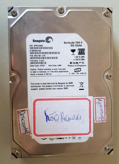 Hd Seagate Barracuda Hd 500gb 7200.9 16mb Sucata Ref: 01396