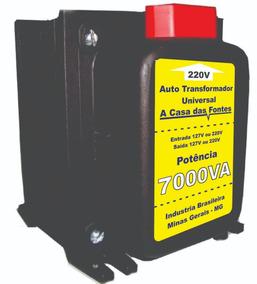 Transformador 7000va 110 220 Ou 220 110 Com Tomadas E Cabo