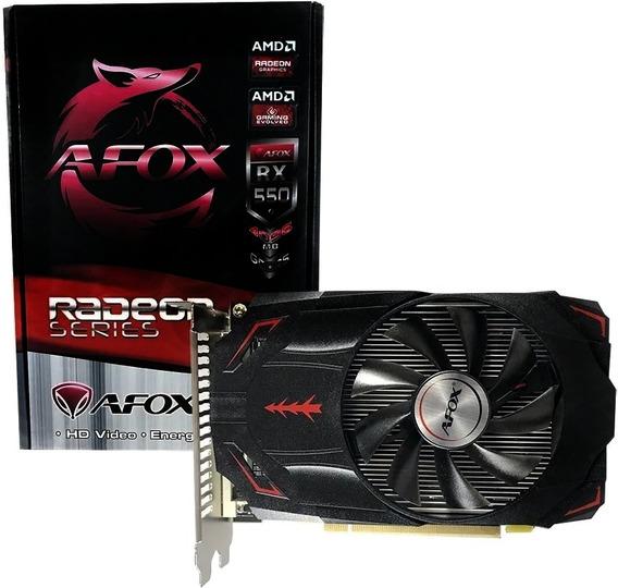 Placa De Video Radeon Rx550 4gb Ddr5 Hdmi-dp-dvi 24+1 Pci-ex