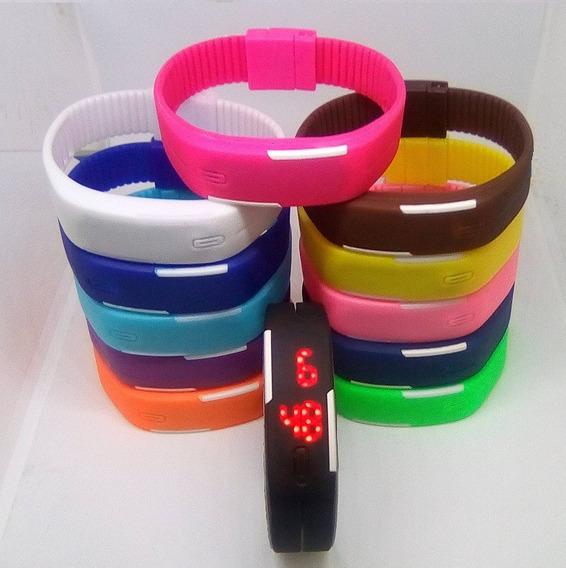 Kit 15 Relógio Pulseira Silicone Digital Led Bracelete