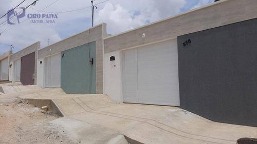 Casa Com 3 Dormitórios À Venda, 90 M² Por R$ 275.000,00 - São Bento - Fortaleza/ce - Ca3132