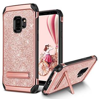 Galaxy S9 Funda, Bentoben Bling Glitter Samsung S9 Funda 2 E