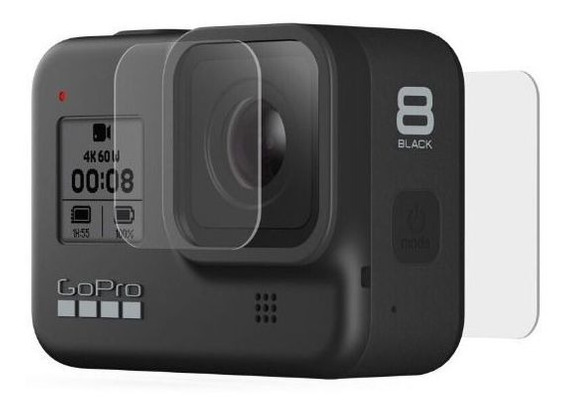Kit Com As Películas Gopro Hero 8 + Silicone Case