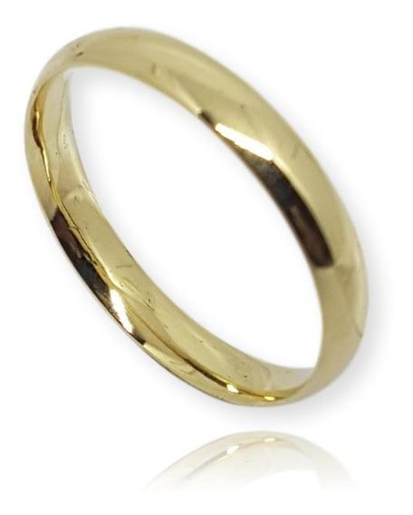 Alianças De Ouro 18k Taubaté 5g 3mm Anatômica Casamento