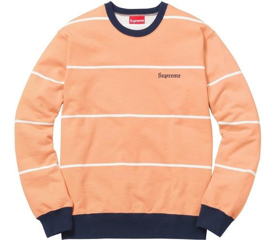 Supreme Striped Crewneck Sweatshirt - Talla M