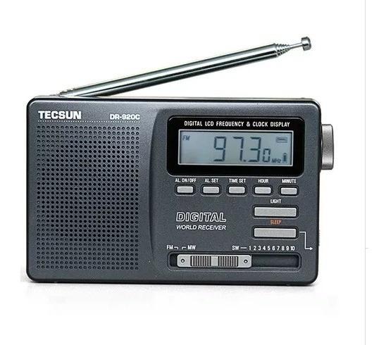 Rádio Tecsun Dr-920c Azul Tradicional Mod. Novo