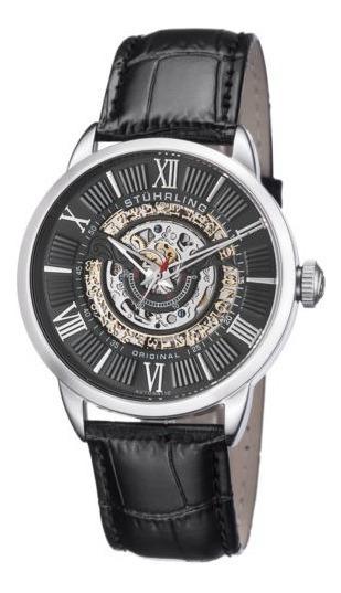 Reloj Hombre 696.02 Banda Cuero Acero Inoxidable Stuhrling