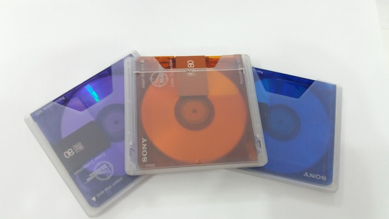 3 Mini Disc Sony Md Recordable - Color Collection 3 Pack