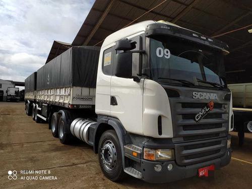 Conjunto Cavalo Scania G-380 A 6x2 E Bitrem Randon 2014