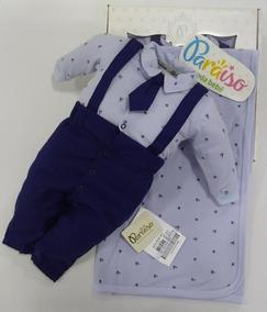 Saida Maternidade Paraiso Bebê Menino Gravata Luxo Cod 9614