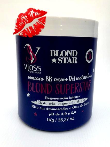 Matizador Vloss Blond Super Star Máscara Bb Cream 12x1 1kg