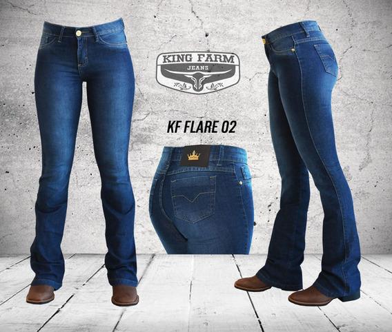 Calça Jeans Feminina King Farm Flare 02