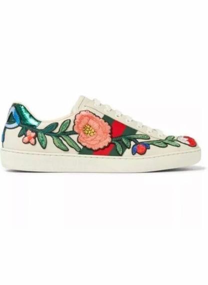 Tenis Gucci Ace Embroidered Nuevos Envió Gratis